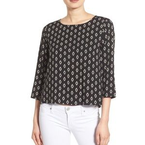 Cupcakes and Cashmere Maribel Graphic Blouse